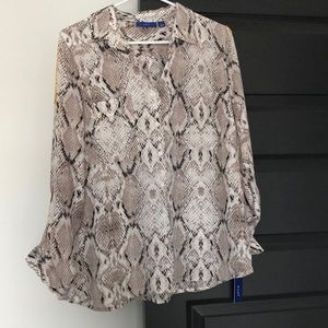 Snake skin blouse- large